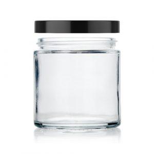 8 oz straight glass jar