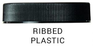 Ribbed plastic cap