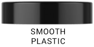 Smooth plastic cap